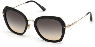 Tom Ford Kenyan Square Metal Sunglasses