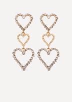 Bebe Triple Heart Earrings