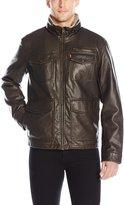 Levi's Men's Faux Leather Jacket W Sherpa Lining