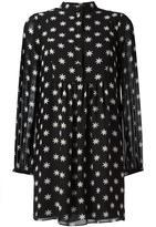 Saint Laurent star print dress - women - Silk - 44