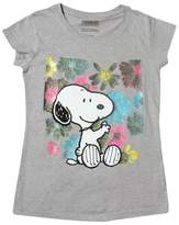 Peanuts Girls' Snoopy T-Shirt - Heather Gray