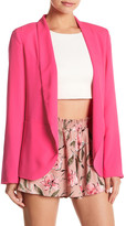 Peach Love Cream Open Front Blazer