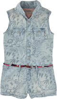 Scotch & Soda Printed tencel shortall - Sky blue