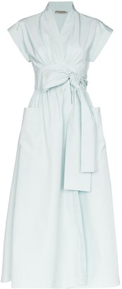 Three Graces Clarissa tie waist midi dress