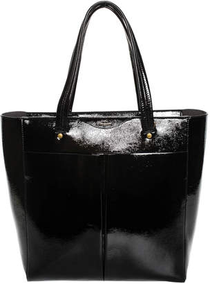 Anya Hindmarch Black Patent Leather Nevis Tote, Never Carried