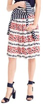 J.Crew Women's Berry Print Pleat Skirt