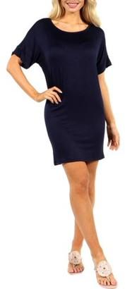 24/7 Comfort Apparel Women's Women's Oversized T-shirt Dress