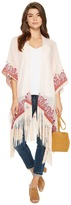BCBGeneration Stamped Paisley Fringed Kimono Women's Clothing