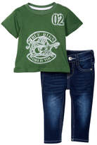 True Religion World Tee & Jeans Set (Baby Boys)