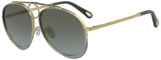 Chloé Romie 61mm Aviator Sunglasses