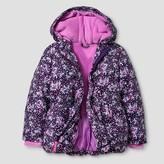 Toddler Girls' Floral Puffer Jacket Cat & Jack - Purple
