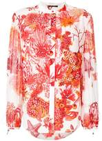 Roberto Cavalli printed concealed front blouse