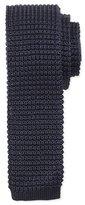 Lanvin Knit Silk Tie, Navy