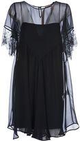 N°21 No21 Mesh Lace Ruffle Dress