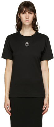 Dolce & Gabbana Black Embroidered Crest T-Shirt