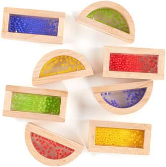 Guidecraft 8Pc Rainbow Blocks Crystal Bead Blocks