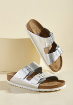 Strappy Camper Sandal in Mercury in 38