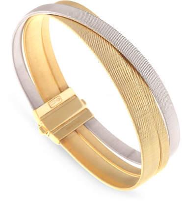 Marco Bicego Masai Yellow & White Gold Three Strand Bracelet