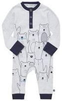 F&F Polar Bear Print Henley Sleepsuit, Newborn Unisex