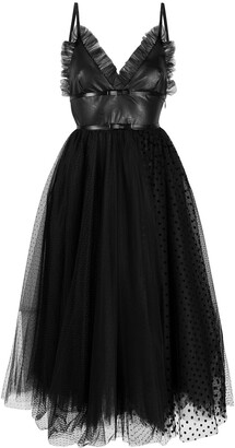BROGNANO Ruffled Tulle Dress