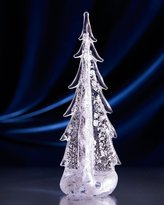"""Simon Pearce Sterling Silver-Leaf Evergreen 14"""" Tree"""