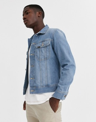 Lee slim rider denim jacket in light blue
