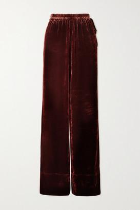 Acne Studios Velvet Wide-leg Pants - Merlot