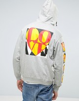 Love Moschino Back and Sleeve Print Hoodie