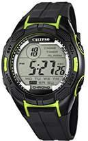 Calypso Men's Digital Watch with LCD Dial Digital Display and Black Plastic Strap K5627/4