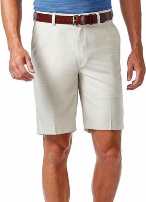 Haggar Mens B/&t Cool 18 Pro Classic Fit Stretch Flat Front Short Flat Front Shorts
