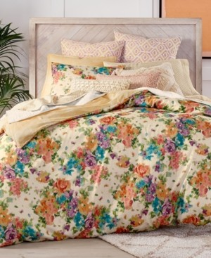 Lucky Brand Closeout! Eden Cotton Reversible 3-Pc. King Duvet Cover Set, Created for Macy's Bedding