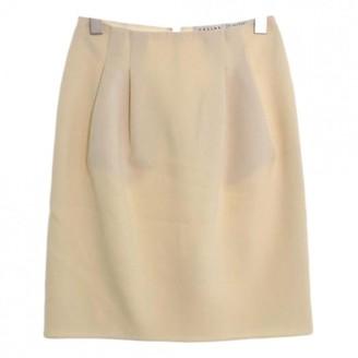 Celine Ecru Wool Skirt for Women