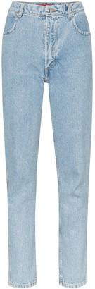 Eckhaus Latta High Rise Straight-Leg Jeans