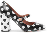 RED Valentino Mary Jane Polka-Dot Leather Pumps