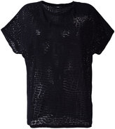 Diesel sheer effect T-shirt - women - Nylon/Rayon - XS