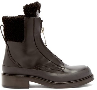 Chloé Roy Shearling-lined Leather Boots - Black
