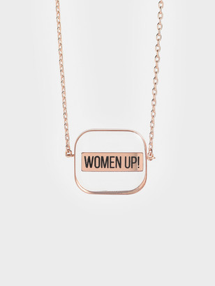 Charles & Keith &FUTURE IS WOMEN& Acrylic Necklace