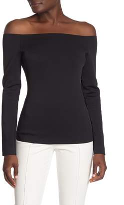 Theory Off-the-Shoulder Fitted Top