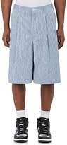 Comme des Garcons MEN'S STRIPED COTTON POPLIN SHORTS