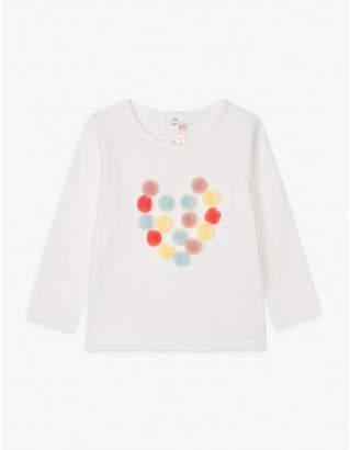 Billieblush Billie Blush Pom-pom heart cotton top 6-36 months