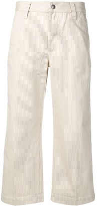 Marc Jacobs Cropped Striped Trousers