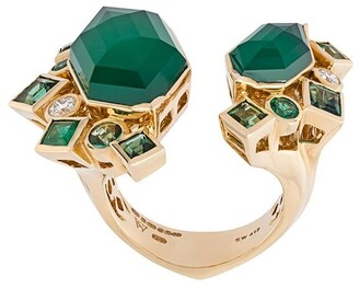 Stephen Webster 'Crystal Haze' emerald and diamond ring