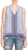 1 STATE Patterned Tunic Top