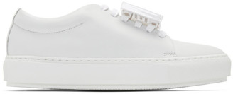 Acne Studios White Graphic Sneakers