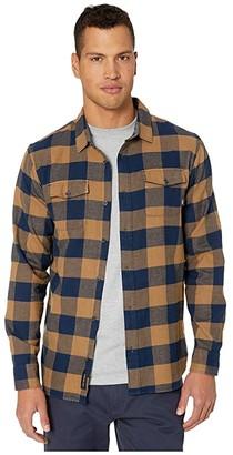 Vans Aliso Plaid Shirt (Dress Blues/Dirt) Men's Clothing