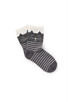Country Road Cat Face Socks