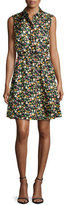 Tory Burch Ryder Floral-Print Silk Shirtdress, Vilette
