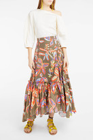 Peter Pilotto Print Cotton Skirt
