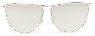 Celine Cat-eye Metal Sunglasses - Gold