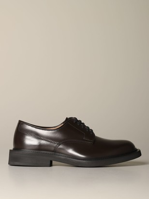 Bottega Veneta Derby Shoes In Leather With Rubber Sole